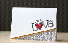 Lots Of Love Card by Laura Bassen for Papertrey Ink (December 2013)