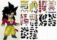 Dragon Ball Z - Goku Paper Model In Chibi Style - by Paper Juke - == - From Japanese anime Dragon Ball Z, here is Goku in a nice paper model version in Chibi style, created by French designer Metal Heart, from Paper Juke website. Vaporwave Art, Paper Models, Dark Souls, Diy Arts And Crafts, Paper Toys, Origami Paper, Dragon Ball Z, Kirigami, Anime