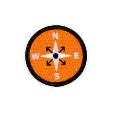 """Get lost - Embroidered patch - Iron-on adhesive backing - Measures 2"""" tall x 2"""" wide"""