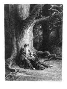 """Merlin- The Enchanter""-Artist Gustave Dore........ man i want myself a wizard"