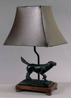 Hunting Dog Table Lamp 18 inches High x 8 inches Diameter