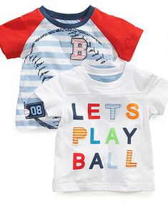First Impressions Baby Playwear, Baby Boys Baseball Graphic Tee - Kids Baby Boy (0-24 months) - Macy's
