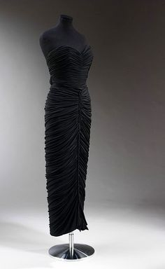Schiaparelli - Evening Dress c.1949. Silk jersey, boned, metal. http://collections.vam.ac.uk/