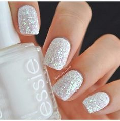 White base with glitter
