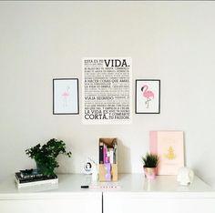 Esta es tu VIDA. #regram from @lualunera - looks awesome, thanks for sharing! #shareyourpassion #shareyourposter #homesweethome #letterpress #poster #home #decor #inspiration