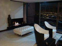 Sala Principal con poltronas giratorias logrando visualizar todo el apartamento y la vista. Chair, Furniture, Home Decor, Apartments, Style, Decoration Home, Room Decor, Home Furniture, Interior Design