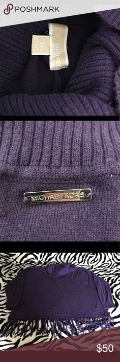 Michael Kors Purple Fringe Sweater Size 3x! Michael Kors Purple Fringe Sweater Size 3x! Very comfy and cozy yet stylish! MICHAEL Michael Kors Sweaters Cowl & Turtlenecks