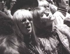 Nico and Brian Jones at the Monterey Pop Festival.