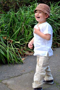 Boys linen pants  natural beige linen pants by littlestarclothing, $56.00