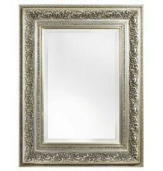Turin Spiegel Een sfeervolle spiegel met een zilveren barok lijst.