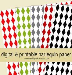 free digital and printable Harlequin scrapbooking paper – wrap paper – Harlekin Geschenkpapier | MeinLilaPark – digital freebies