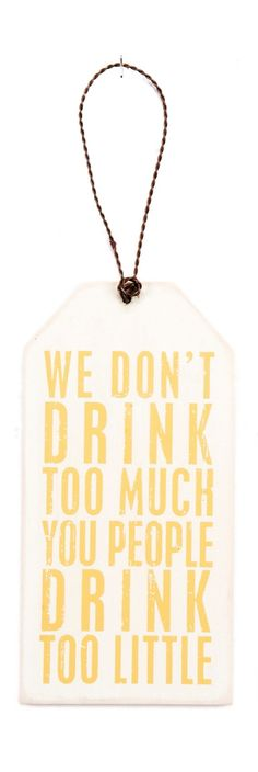 LOL! The perfect gift tag for the wine lover in your life.