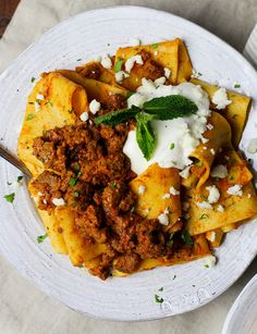 Pappardelle with Za'atar Lamb 'Bolognese' and Yogurt Ricotta
