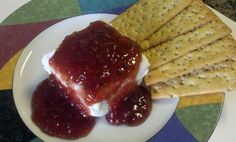 Raspberry Chipotle Cream Cheese Dip. This stuff is addicting! I like it best with Wheat Thins