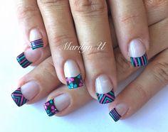 French Nails, Diy Nails, Nail Designs, Nail Art, Gel Nail, Acrylics, Beauty, Style, Nails Inspiration
