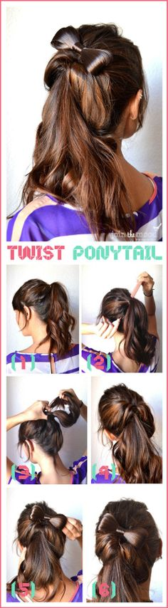 How To Make a Twist Ponytail | hairstyles tutorial