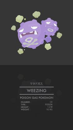 Weezing -マタドガスNumber: CXGeneration I BACK / NEXT  Thanks for viewing! Do you like my work? Let me know below! WEAPONIX NETWORK