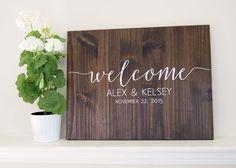 Wedding Welcome Sign - Rustic Wood Wedding Sign