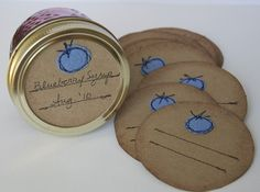 mason jar gift labels. cute idea