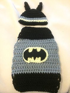 Crochet batman baby costume 0-3,3-6,6-9 months on Etsy, $20.00
