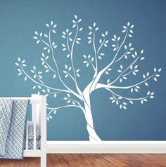 White Tree Wall Decal  Nursery Wall Decal by Jesabi on Etsy, $110.00
