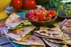 "Quicksadillas from ""The Doctor's Diet Cookbook"" by Travis Stork, M.D.  #recipe #healthy #Mexican #quesadillas"