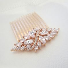 Rose Gold Bridal hair comb Wedding hair comb by treasures570