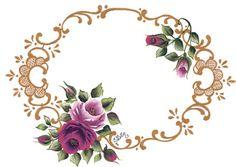 halkalı çiçek desenli dekupaj resmi Rose Oil Painting, Fabric Painting, Handmade Crafts, Diy And Crafts, Paper Crafts, Diy Art Projects Canvas, Banner Drawing, Rose Pictures, Monogram Frame