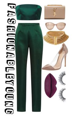 Untitled #211 by ayanna-cooper on Polyvore featuring polyvore moda style Katie Ermilio Gianvito Rossi Yves Saint Laurent Linda Farrow fashion clothing