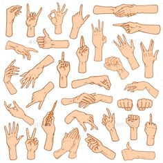Gestures arms stop palm thumbs up finger pointer ok like and pray or handshake fist and peace or rock n roll. Arm Drawing, Hand Drawing Reference, Gesture Drawing, Anatomy Reference, Drawing Poses, Art Reference Poses, Drawing Sketches, Drawings, Thumbs Up Drawing