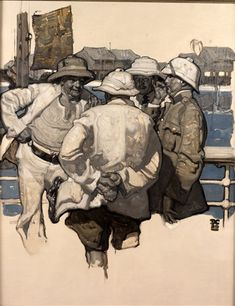 Cosmopolitan Story Illustration - Two Different Canvases by Dean Cornwell on artnet