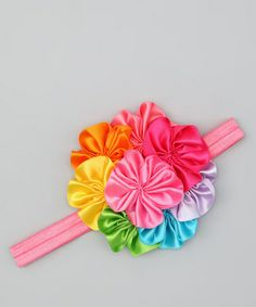 Love this Rainbow Bouquet Headband on #zulily! #zulilyfinds