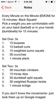 WOD. One of my better total body workouts. For the EMOM do 15 reps every minute on the minute