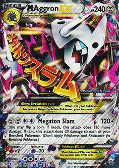 Pokemon Card Primal Clash Mega M Aggron EX Mint in Toys & Hobbies, Trading Card Games, Pokémon   eBay