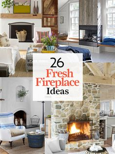 Stone, slate, wood, and more: Get inspired to re-do your living room with our fave fireplace designs and mantel ideas: http://www.countryliving.com/homes/fireplace-designs-2008
