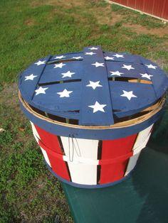 USA Flag Stars and Stripes hand painted by KarasWoodCreations, $108.00