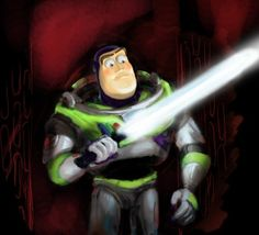 """*whistles* I could use one of those."" Buzz Lightyear meets Star Wars"