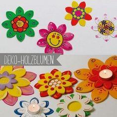 Deko-Holz-Blumen