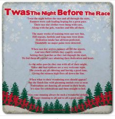 Twas the night before the race