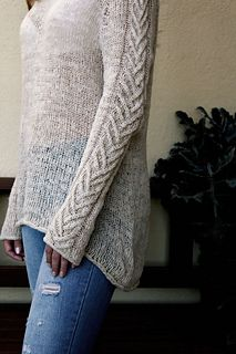 Wheat is a top-down sweater with the yoke shaped as the compound raglan, which creates a natural line running along the shoulder - something between the classic raglan and set-in sleeve.