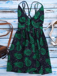 SHARE & Get it FREE | Crosscriss Pineapple Print Beach Dress - Purplish BlueFor Fashion Lovers only:80,000+ Items • New Arrivals Daily Join Zaful: Get YOUR $50 NOW!