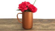 DIY Affordable Copper Roses Floral Home Décor