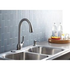 KOHLER Barossa 1, 2, 3 or 4-Hole 1-Handle Pull-Down Sprayer Kitchen Faucet in Vibrant Stainless-K-R776-SD-VS at The Home Depot