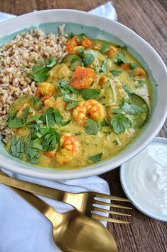 Indian Food Recipes, Asian Recipes, Ethnic Recipes, Cards For Men, Thai Yellow Curry, Scampi, Paleo Dinner, Easy Cooking, Shrimp