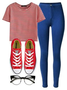 """""""skewl"""" by anacxrros on Polyvore featuring WithChic and Converse"""