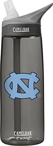 NCAA North Carolina Tar Heels Unisex CamelBak Eddy 75L Collegiate Water Bottle CHARCOAL 75 Liter ** Click image to review more details.
