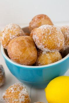 Easy Lemon Donut Holes | crazyforcrust.com @Crazy for Crust