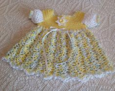 This dress can be made with Hobby Lobby light weight, acrylic, baby yarn (3) or Sport weight (3) yarn. The color choices are endless. I have lots of stitch counts and photos to help you along.