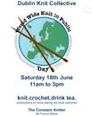 Join us for some knitting, crochet, tea-drinking, cake-eating on Saturday 18 June to celebrate WWKIP Day.  Free event :)