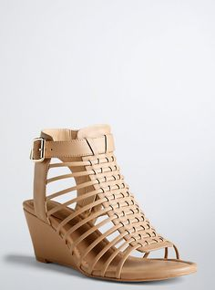 f362fcd82 Cage Mini Wedges (Wide Width). Wide ShoesWide Width ShoesNew ShoesNude  SandalsOpen ...